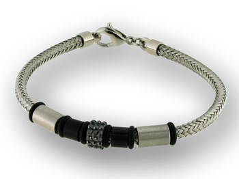 Steel with black cironitas LK84BA522 Liska bracelet