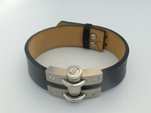 STEEL BRACELET I LEATHER