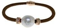 Pulsera de acero márron y perla  BR.1BRS/2 LUCA LORENZINI