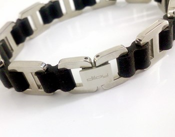 STEEL BRACELET AND RUBBER DILOY JP201-00