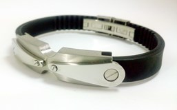 STEEL BRACELET AND RUBBER DILOY JP208-00
