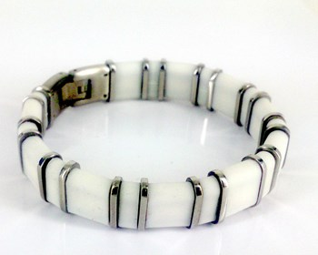 STEEL BRACELET AND RUBBER DILOY JP193-00