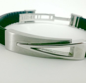 STEEL BRACELET AND RUBBER DILOY JP211-00