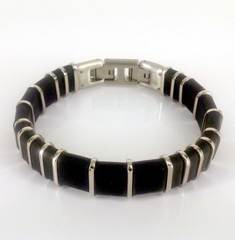 STEEL BRACELET AND RUBBER DILOY JP194-00