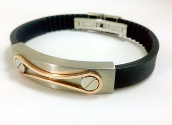 STEEL BRACELET AND RUBBER DILOY JP214-00
