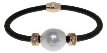 Bracelet en acier et perle BR.1BRS/1 LUCA LORENZINI