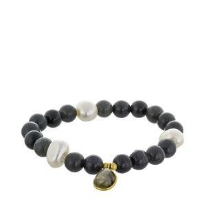 Agates et charme Baroque Labradorite perles bracelet