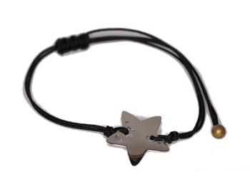 Pulsera de cordón con Estrella de plata 0058B Pasquale Bruni