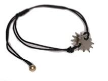 Pulsera de cordón con Sol de plata 0060B Pasquale Bruni