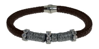 BRACELET LEATHER AND STEEL BRB48-1 LUCA LORENZINI