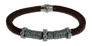Bracelet cuir et acier BRB48-1 LUCA LORENZINI