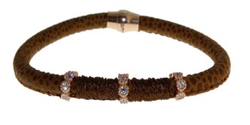 BRACELET LEATHER AND STEEL BRB48-6 LUCA LORENZINI