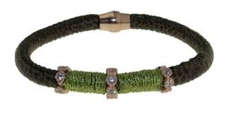 Bracelet cuir et acier BRF48-7 LUCA LORENZINI