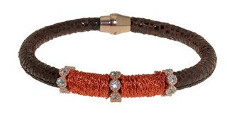 BRACELET LEATHER AND STEEL BRB48-3 LUCA LORENZINI