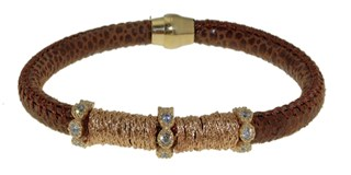 BRACELET LEATHER AND STEEL BRB48-4 LUCA LORENZINI