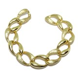 BRACELET 18K YELLOW GOLD MATTE AND GLOSS FOR WOMEN OF 1.70 CM) WIDE BY 21.00 INCHES LONG NEVER SAY NEVER