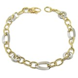 BRACELET OF YELLOW GOLD AND WHITE 18KTES OF 18.5 CM NEVER SAY NEVER