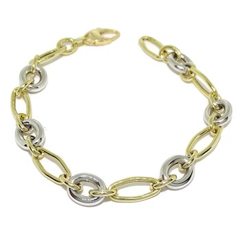 BRACELET OF YELLOW GOLD AND WHITE GOLD 18KTES. 20CM NEVER SAY NEVER