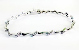 GLOSS AND MATTE 18KT WHITE GOLD BRACELET
