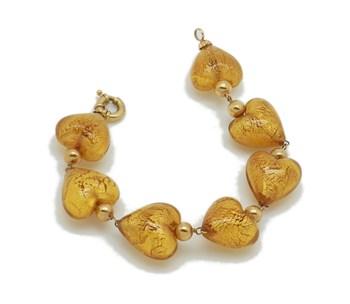GOLD HEARTS BRACELET