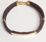 GOLD BRACELET OF 1ST LAW LEATHER