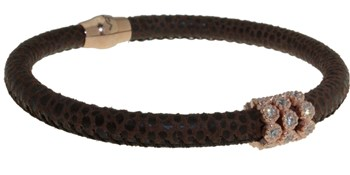 Brown skin with BRB47-3 stones bracelet LUCA LORENZINI