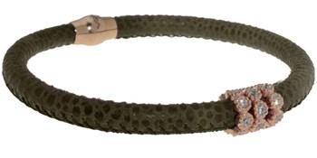 Vert de peau avec bracelet pierres BRB47-7 LUCA LORENZINI
