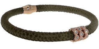Green skin with BRB47-7 stones bracelet LUCA LORENZINI