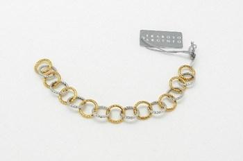 Bicolor silver bracelet Fraboso Argento