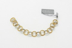 Bracelet en argent bicolor Fraboso Argento
