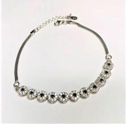 pulsera de plata rodiada circonitas - Artesanal - ppul17468
