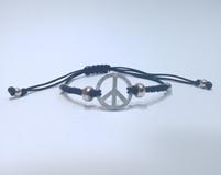 Pulsera de plata símbolo de la paz Pomi Italia
