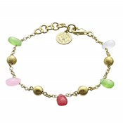 BRACELET LAST A SILVER WITH BA�OR IN GOLD AND COLORED STONES 00506347 DURAN EXQUSE