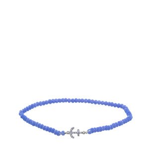 BLUE ELASTIC BRACELET WITH ANCHOR