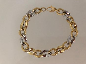 GOLD BRACELET 18 KARAT TWO-TONE 2123449