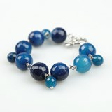BRACELET CHAINED FROM BLUE AGATE AND CHARMS PU189A PATRICIA GARCIA