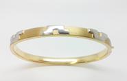 Pulsera Esclava oro amarillo y blanco   08301