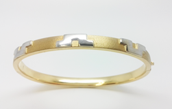 BRACELET SLAVE GOLDEN YELLOW AND WHITE 08301