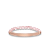 EXPANDABLE BRACELET QUARTZ PINK AND SHEET OF SILVER AND GOLD PLATED STONES PINK LBA0007-537-9 THOMAS SABO