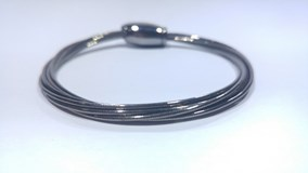 BRACELET FLEXIBLE STRIPS OF SILVER WITH A BATH OF RHODIUM BLACK PESAVENTO
