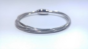 BRACELET FLEXIBLE STRIPS OF SILVER WITH A BATH OF RHODIUM PESAVENTO