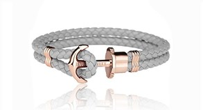 BRACELET GREY ANCHOR PINK PAUL HEWITT 11225