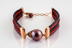 Des perles et bracelet rose argent Gucci
