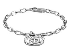 PULSERA GUCCI PLATA INTERLOCKING YBA295711001018