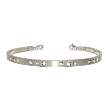 BRACELET FOR MAN ANAT�MICA, IN 18K WHITE GOLD ARTICULATED LINK, AND LINED. WEIGHT: 16.10 NEVER SAY NEVER