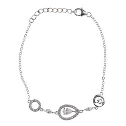 Pulsera lágrimas/círculos plata R52151Z Cerruti 1881