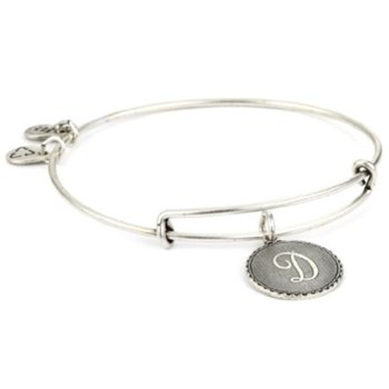 BRACELET LETTER D SILVER A08EB91DS ALEX AND ANI 886787003089