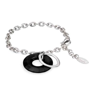 Lotus bracelet silver of silver with black stone lp1019-2/2