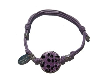 Lotus purple Silver bracelet lp1105-2/2