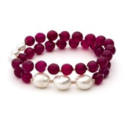 BRACELET LUXENTER CULTURED PEARLS BXA088R12100